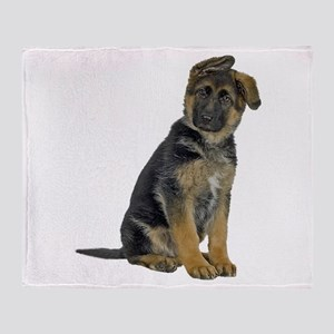 German Shepherd Puppy Throw Blanket