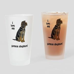 German Shepherd Love Pint Glass