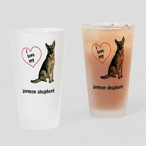German Shepherd Lover Pint Glass