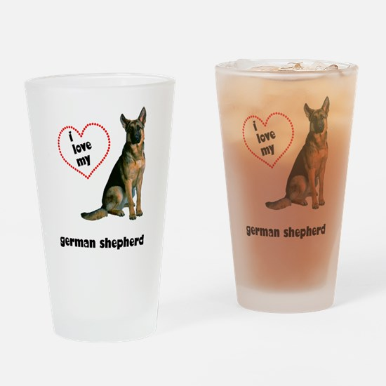 German Shepherd Lover Pint Glass