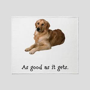 Good Golden Retriever Throw Blanket