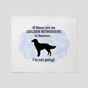 Golden Retrievers In Heaven Throw Blanket
