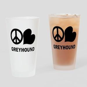 Peace Love Greyhound Pint Glass