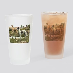 Greyhound Art Pint Glass