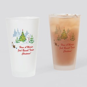 Jack Russell Terrier Xmas Pint Glass