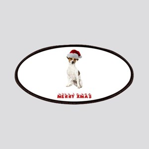 Xmas Jack Russell Terrier Patches