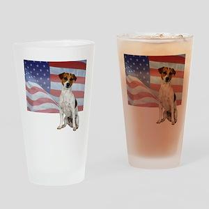 Patriotic Jack Russell Terrie Pint Glass