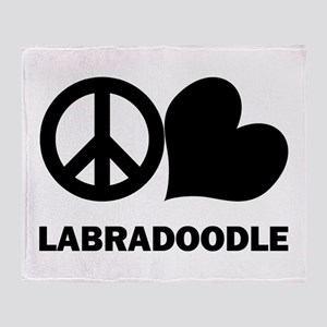 Peace Love Labradoodle Throw Blanket