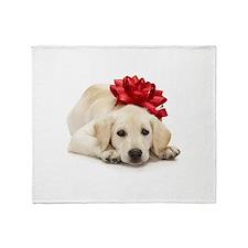 Yellow Lab Puppy Throw Blanket