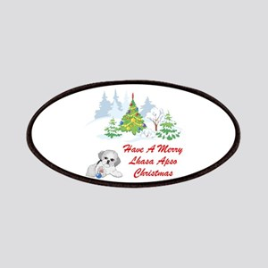 Christmas Lhasa Apso Patches
