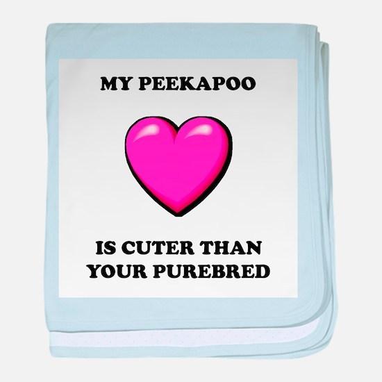 Peekapoo Cuter baby blanket