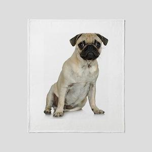 Fawn Pug Throw Blanket