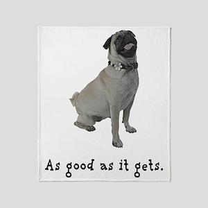 Good Pug Throw Blanket