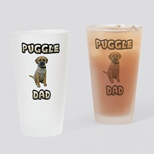 Puggle Dad Drinking Glass