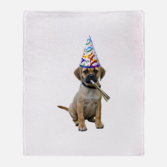 Puggle Party Throw Blanket