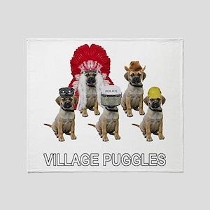 Village Puggles Throw Blanket