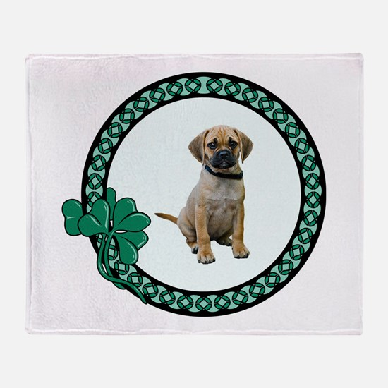 Irish Puggle Throw Blanket