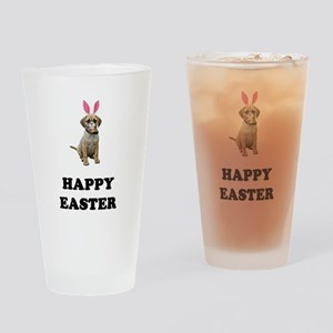 Easter Bunny Puggle Pint Glass