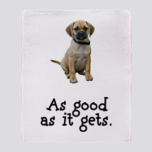 Good Puggle Throw Blanket