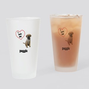 Puggle Lover Pint Glass