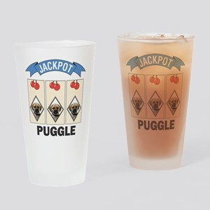Jackpot Puggle Pint Glass