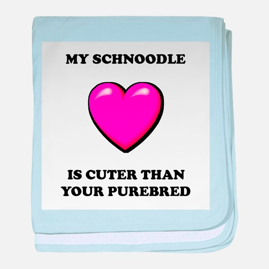 Cute Schnoodle baby blanket