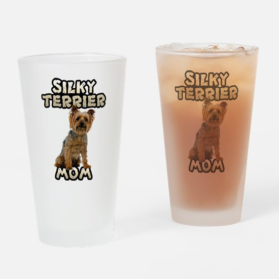 Silky Terrier Mom Drinking Glass