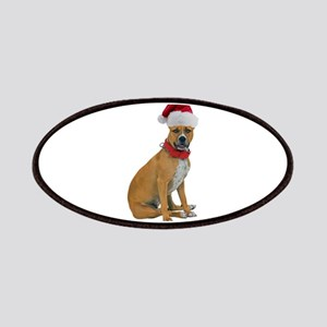Staffie Christmas Patches