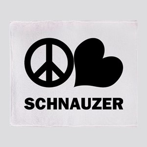 Peace Love Schnauzer Throw Blanket