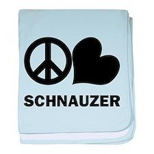 Peace Love Schnauzer baby blanket