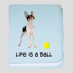 Toy Fox Terrier Life baby blanket