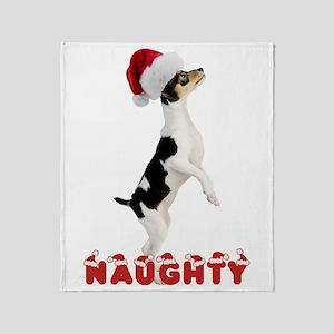Naughty Toy Fox Terrier Throw Blanket