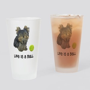 Yorkie Life Drinking Glass