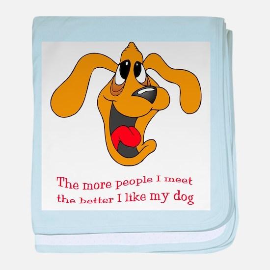 People vs. Dog baby blanket