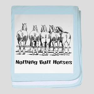 Nothing Butt Horses baby blanket