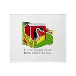 Horse People Throw Blanket