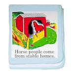 Horse People baby blanket