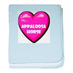 I Love My Appaloosa Horse baby blanket