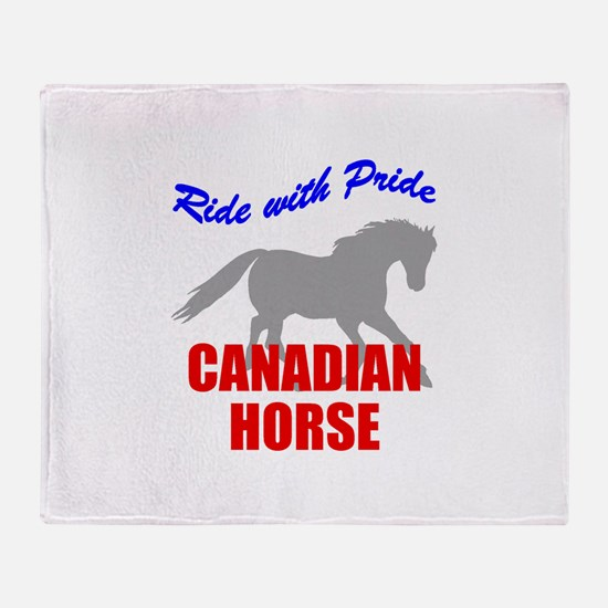 Ride With Pride Canadian Hors Throw Blanket