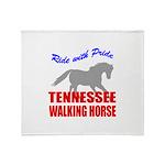 Pride Tennessee Walking Horse Throw Blanket