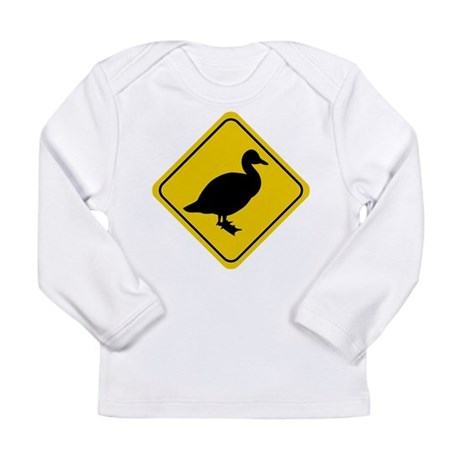 Duck Crossing Sign Long Sleeve Infant T-Shirt