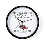 Legal Yard Service Wall Clock