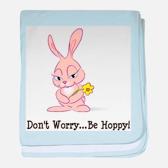 Be Hoppy Bunny baby blanket