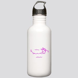 Swimming Girl Pink No Words Stainless Water Bottle