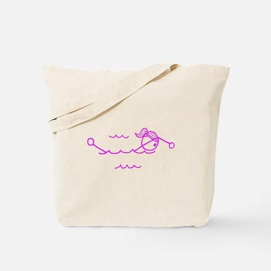 Swimming Girl Pink No Words Tote Bag