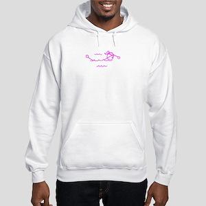 Swimming Girl Pink No Words Hooded Sweatshirt