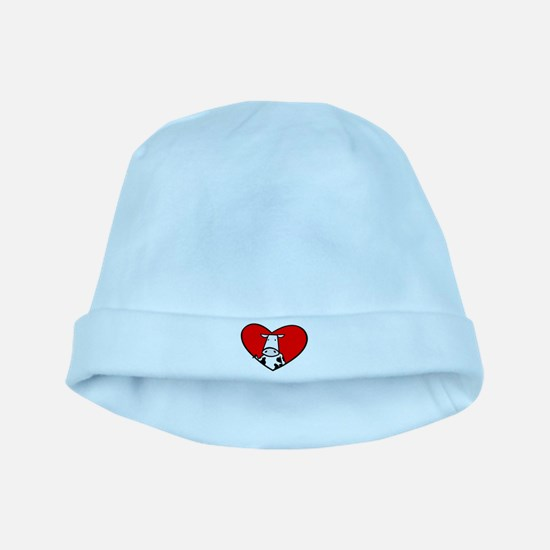 I Heart Cows baby hat