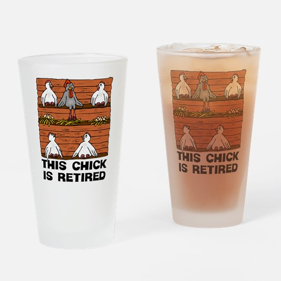 Retired Chick Drinking Glass