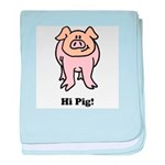 Hi Pig Bye Pig baby blanket