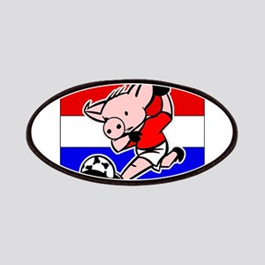Croatia Soccer Pigs Patches